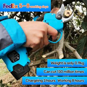 Buy cheap Swansoft Finger Protection Secateurs Battery Operated Scissor 25mm Battery Powered Orchard Pruner With High Quality product