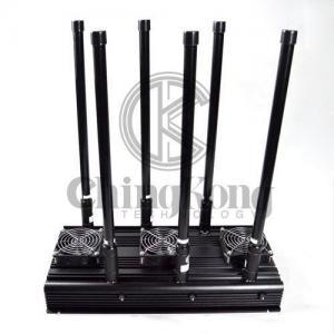 Buy cheap CDMA GSM 3G 4G Manpack Jammer Black Cell Phone Signal Scrambler AC110-240V product