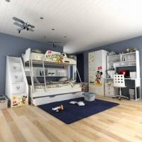 China E0 Grade Kids'/Children's Bedroom Set, Wooden Bunk Bed, with Cartoon Figure Designs on sale
