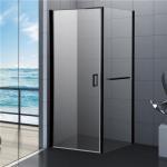 China 800x800 Black Bathroom Shower Enclosure, Square Shower Kits with Towel Rack wholesale