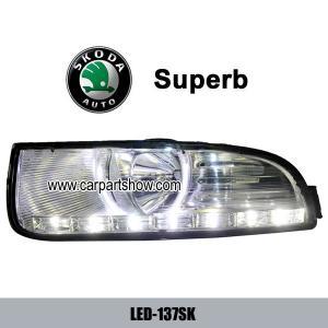 China Skoda Superb DRL LED Daytime Running Light foglight fog lamps Car headlights parts Fog lamp cover LED-137SK on sale