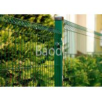 China Green Polyester Wire Mesh Fence , Easy Install Welded Security Fence Panels on sale