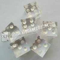 Buy cheap Transparent Plastic Casino Magic Dice with Reomote Control Regular Size product