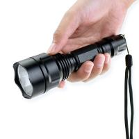 Buy cheap 5W 200m Zoomable Tactical Flashlight 2200mAh 18650 Rechargeble Battery product