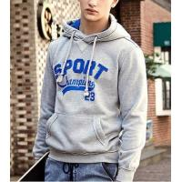 China Mens Hoody with kangaroo packet and applique pattern on sale