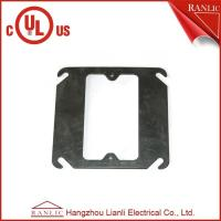 Buy cheap Black Metal Conduit Box Steel One Gang Square Electrical Box Cover , E349123 product