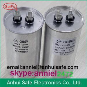 Buy cheap CBB65 ac motor run capacitor 30uf 450VAC low voltage quantity manufacturer product
