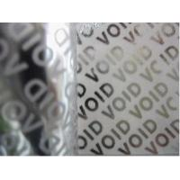 Buy cheap Matt Total Transfer Warranty Void Labels , Printed Ribbon Labels Material product