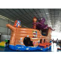 Buy cheap Attractive Pirate Ship Slide Inflatable , Kindergarten Baby Games Blow Up Pirate Ship product