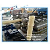 Buy cheap Plastic DWC Pipe Manufacturing Machine / HDPE Corrugated Pipe Extrusion Line product