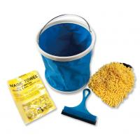 Buy cheap 5 Pieces Microfiber Car Cleaning Tools with Foldable Bucket / Cheese Cloth product