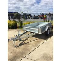 Buy cheap 7x5 Hot Dipped Galvanized Single Axle Trailer with Mechanical Disc Brake 1400KG product