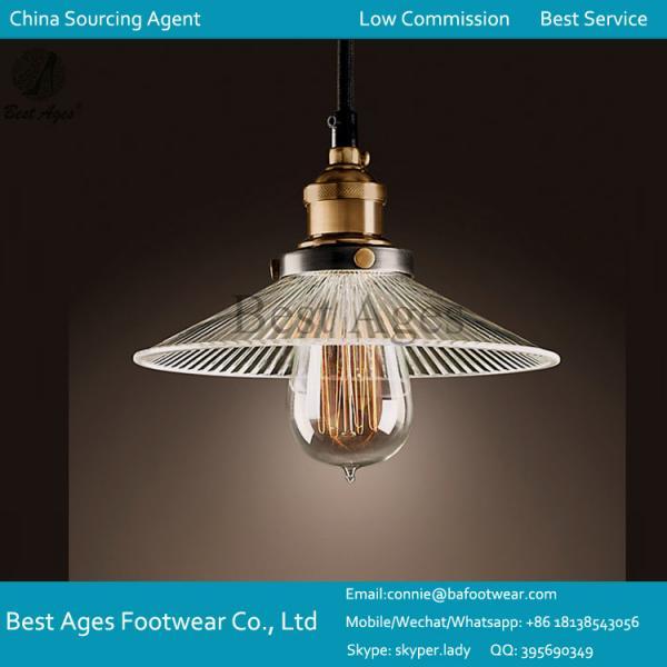 Modern Clear Glass Shape Ceiling Lamp Shade Pendant Light