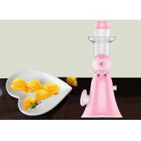 Buy cheap Pink Mini Hand Ice Cream Maker Homemade Pure Juicer No Added Preservatives product