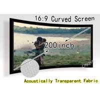 China Ultra Big 200-inch Curved Fixed Frame DIY Screen , Acoustically Transparent Fabric With CE on sale