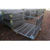 Buy cheap Warehouse Other Material Handling Equipment / Stacking Steel Wire Mesh Storage Cages product