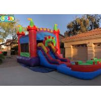 China Indoor Inflatable Bouncers With Slide Inflatable Bouncy Castle Logo Support on sale