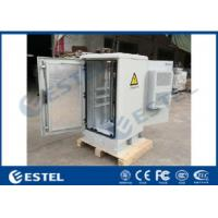 China 24U Galvanized Steel Outdoor Telecom Cabinet IP55 Air Conditioner & Fans Cooling System on sale