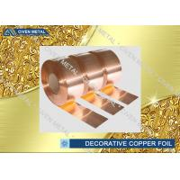 Buy cheap C1100 C1220 C1020 Decorative Copper Sheet Roll For Electronic Industry from wholesalers