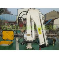 Buy cheap Boat Small Lifting Crane 0.98T 5M 360° Slewing High Reliability Running Smoothly product