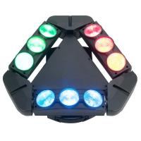 Buy cheap DMX RGBW 4in1 LED Beam Lights , 3*3 10W 9 Heads Moving Spider Beam DJ Bar Lighting from wholesalers