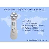 Buy cheap Mini home use facial beauty device 6 color ultrasonic led lights photon face massager from wholesalers