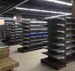Buy cheap Los estantes departamentales de la tienda del supermercado de Boltless/laminaron la estantería de acero del colmado del extremo from wholesalers