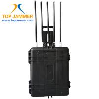 Buy cheap 5 Bands 250W High Power Portable Luggage Cellphone Signal Jammer Military Security Force product