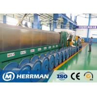 China Al Alloy Wire / Copper Rod Drawing Machine With Dual Bobbin Take Up High Potency for sale