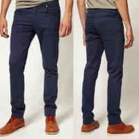 Buy cheap indigo trousers chino narrow leg pants for men   product