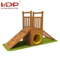 Buy cheap Small Wooden Playground Equipment Childrens Wooden Swing And Slide Sets product