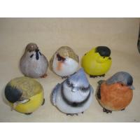China Bright Coloured Polyresin Figurine Small Animal Bird Statues Figurines on sale