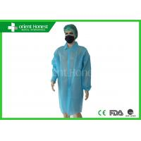 Buy cheap Surgical Doctor Working Suit Lab Coats Disposable Single Collar Hook And Loop On The Front product
