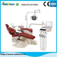 China Foshan luxury floor type dental chair with dental LED lamp on sale