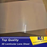 Buy cheap High quality 51X71CM 0.25MM PET Lenticular Lens Film sheet lenticular lenses  for 3d lenticular printing service Baharin product