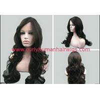 Buy cheap 7A Black Deep Wave Natural Human Hair Wigs No Shedding No Tangle from wholesalers