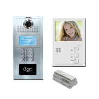 "Buy cheap 5"" multi apartment cat 5 one cable/ 4+2 wire analog video door phone handsfree video intercom door phone product"