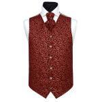 Buy cheap polyester Jacquard Paisley Handmade gentleman's maroon Waistcoat product