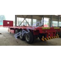 China 3 Axle 20ft 40ft 45ft Flatbed Container Semi Trailer wholesale