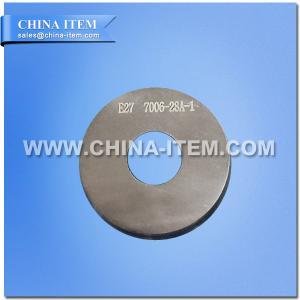 """IEC 60061-3 7006-28A-1 """"para não ir"""" calibre para os tampões E27 no calibre terminado das lâmpadas"""