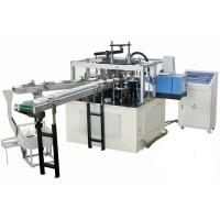 Buy cheap High Efficiency Automatic Paper Lid Making Machine With Hot Melt Glue Box product
