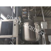 Buy cheap HMI Control Cosmetic Cream Mixers / Hydraulic Lifting Lotion Mixer Machine product