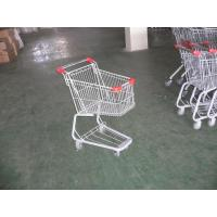 Plastic Supermarket Folding Shopping Carts With Swivel Casters