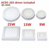 Buy cheap Free shipping 9W/15W/25W Round/Square Led Panel Light Surface Mounted Downlight lighting Led ceiling down AC 110-240V + product