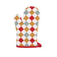 Buy cheap Hand Protective Cotton Oven Mitts , Christmas Pattern Printed Kitchen Mitts from wholesalers