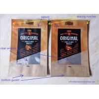 Buy cheap Snack Food Packaging Poly Bags , Laminated Brown Craft Paper Bags product