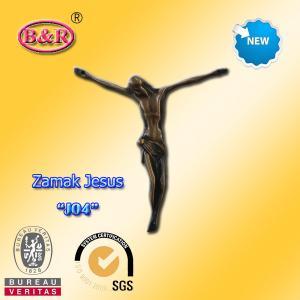 """Buy cheap Zamak Jesus size 10.2*11.2cm zinc alloy cross part for crucifix , No """" J05"""" product"""