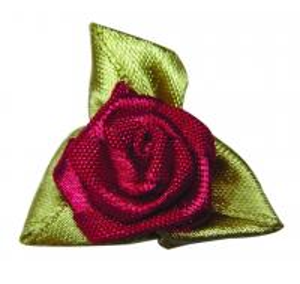 China Цветки декоративной красной тесемки сатинировки розовые пригодные для носки, стойкость краски 4 уровней связали проволокой цветки тесемки on sale