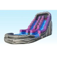 Buy cheap 19Ft Purple Inflatable Water Slides Summer Splash With Logo Printing product