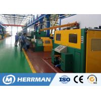 China Al Alloy Wire / Copper Rod Drawing MachineWith Dual Bobbin Take Up High Potency for sale